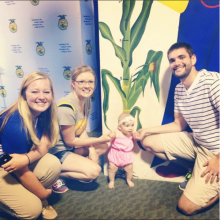 The youngest Future Farmer of America to swing by the Iowa FFA Foundation Booth.