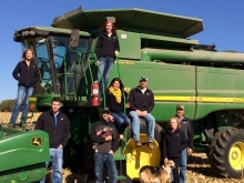 My family and I posing for a picture during harvest, my favorite time of year!